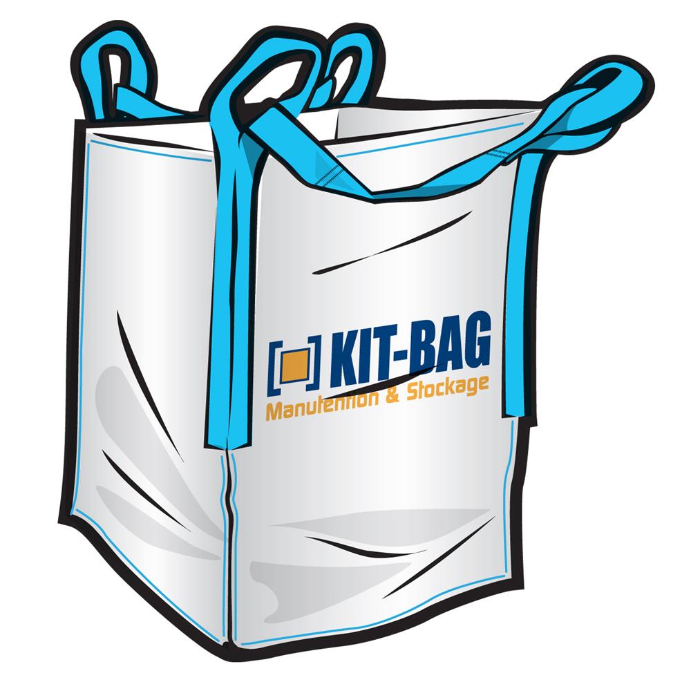 big bag kgb 91x91x120 sache interne double toile shipping belts kit bag. Black Bedroom Furniture Sets. Home Design Ideas