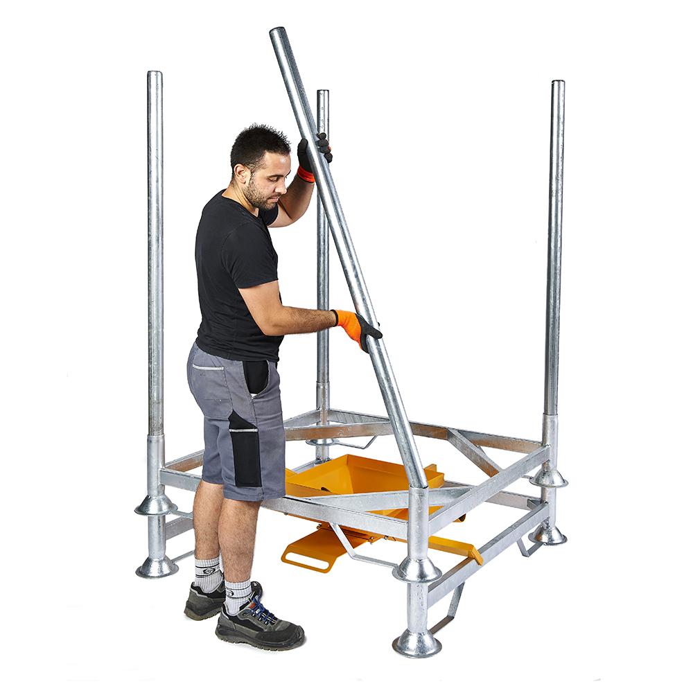 support de vidange 950 mm vanne guillotine 200mm 2 manchons kit bag. Black Bedroom Furniture Sets. Home Design Ideas